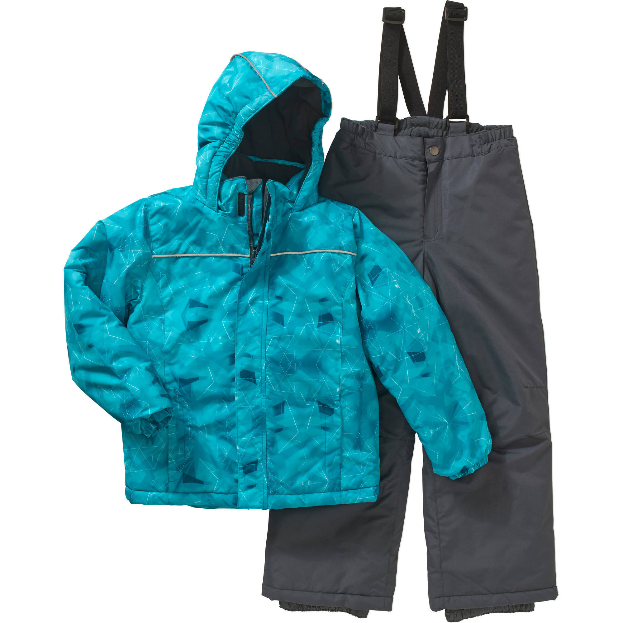 Iceburg Boys' Performance Insulated 2 Piece Snowsuit Jacket and Ski Bib Pants Set, Available in 5 Prints and 10 Colors