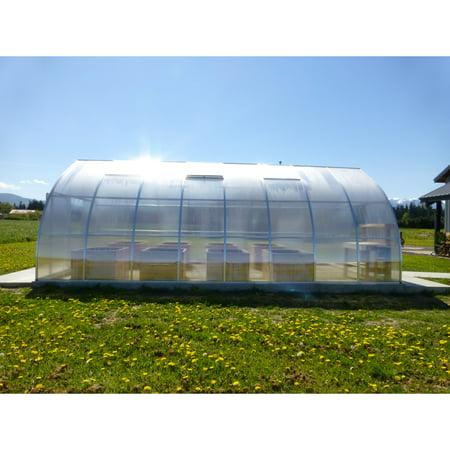 Riga Greenhouse - Exaco Riga XL 8 Professional Greenhouse with Foundation Frame