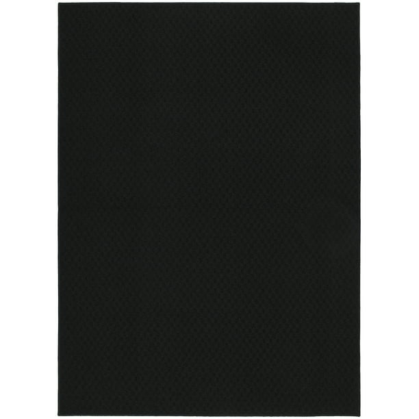 "Garland Rug Town Square Solid Black 45""x66"" Indoor Area Rug"