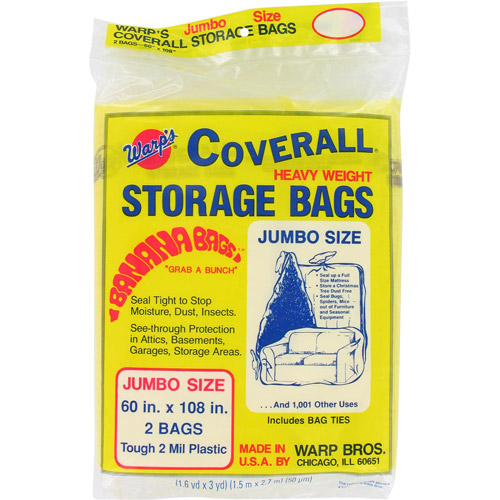 "Warps CB-60 2-Count 60"" x 108"" Banana Bags Storage Bags"