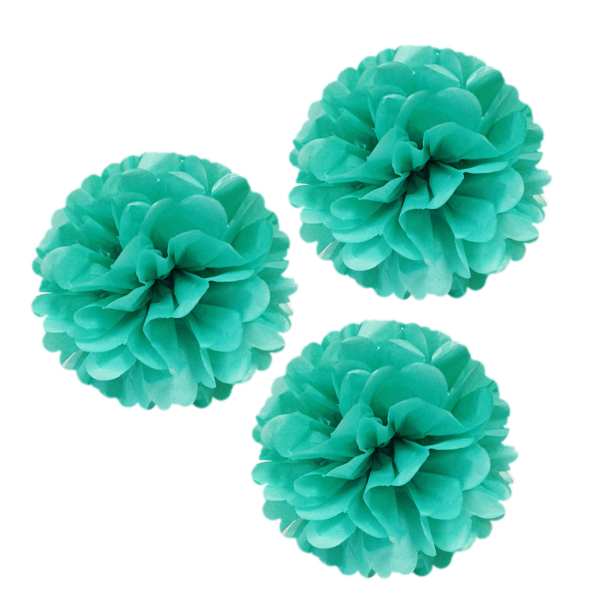 """Wrapables® 12"""" Set of 3 Tissue Pom Poms Party Decorations for Weddings, Birthday Parties Baby Showers and Nursery Décor, Red"""