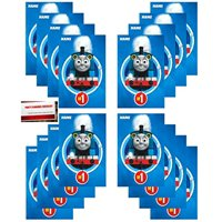 16 Pack Thomas The Train All Aboard Party Plastic Loot Treat Candy Favor Bags (Plus Party Planning Checklist by Mikes Super Store)