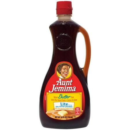 (3 Pack) Aunt Jemima Butter Lite Syrup 24 fl. oz.