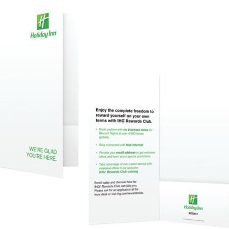 Holiday Inn Check In Folder Package Of 1000
