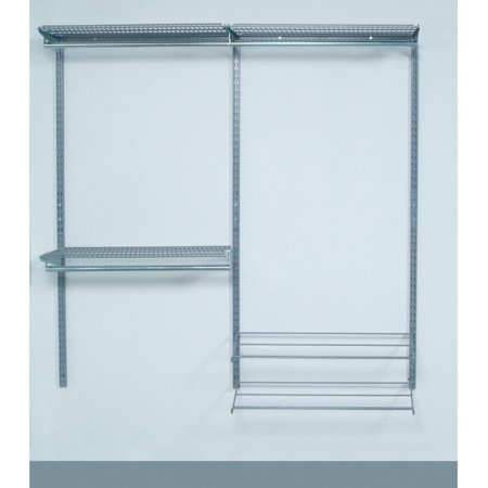 Storability Modular Closet, Garage, and Laundry Organizer Kit with 2 Top Tracks, 3 Hang... by