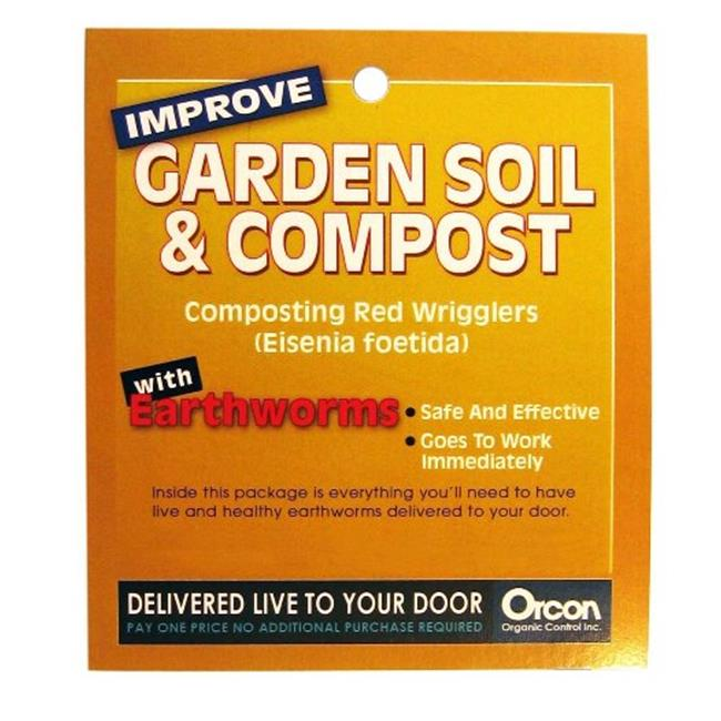 Orcon EW-C1LB Live Earthworms - Help Keep The Soil Loose
