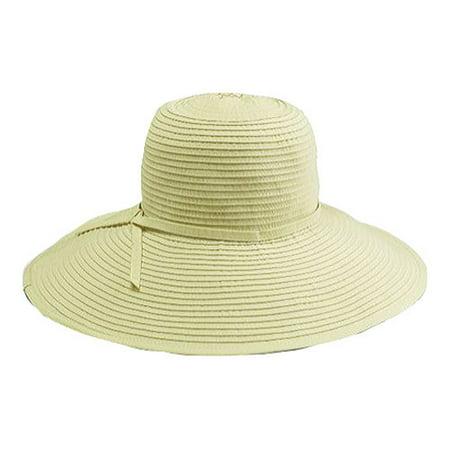 Women's San Diego Hat Company Ribbon Braid Large Brim Hat RBL202 (Ribbon Braid Hat)