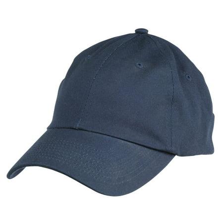 Dalix Unisex Unstructured Cotton Cap Adjustable Plain Hat - Unstructured (Navy Blue)