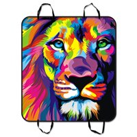 ZKGK Lion Art Dog Car Seat Cover Dog Car Seat Cushion Waterproof Hammock Seat Protector Cargo Mat for Cars SUVs and Trucks 54x60 inches