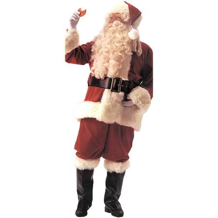 4c7db385334a6 Santa Suit Deluxe Velvet Adult Costume - Walmart.com
