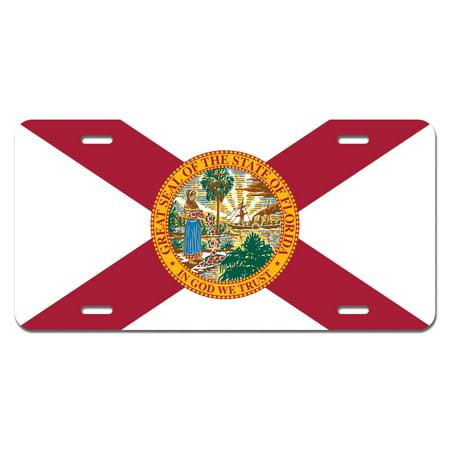 Florida State Flag Novelty License Plate
