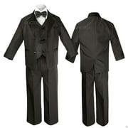 Black  Boy Wedding Formal Party no tail Tuxedo Suit sz S M L XL 2T 3T 4T 5 6 -20