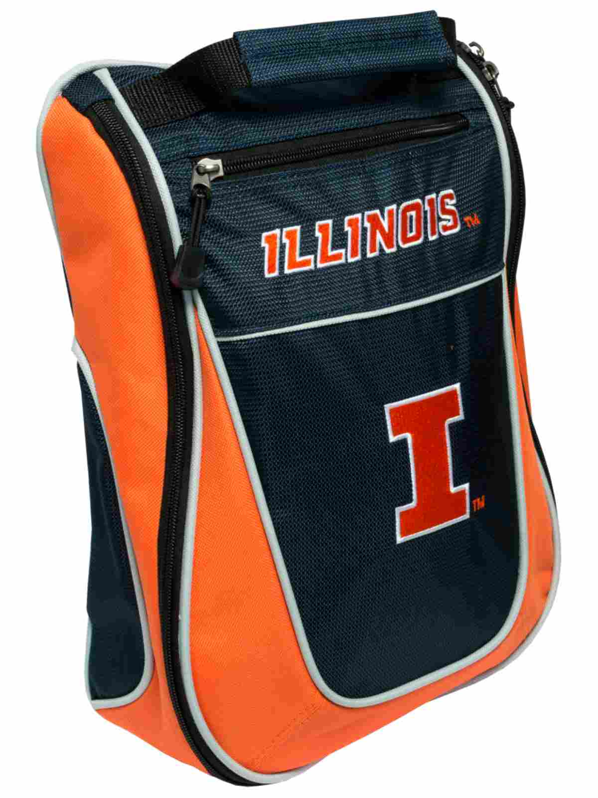Illinois Fighting Illini Team Golf Navy Zippered Carry-On Golf Shoes Travel Bag by Team Golf