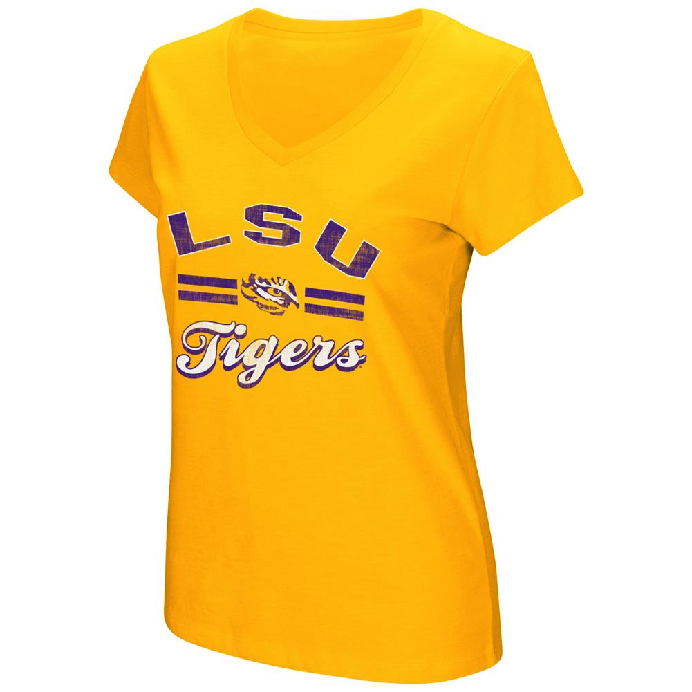 Women's Hurdle Short Sleeve LSU Tigers Louisiana State Graphic Tee