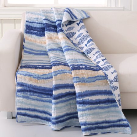 Corona Eagles (Global Trends Corona Quilted Throw Blanket, 50x60-Inch, Blue)