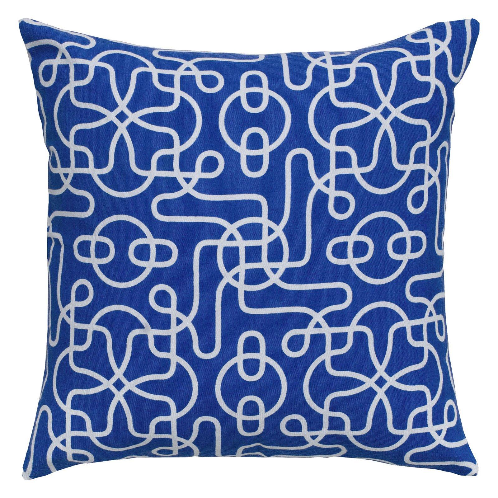 "Rizzy Home Decorative Poly Filled Throw Pillow Geometric 18""X18"" Orange"