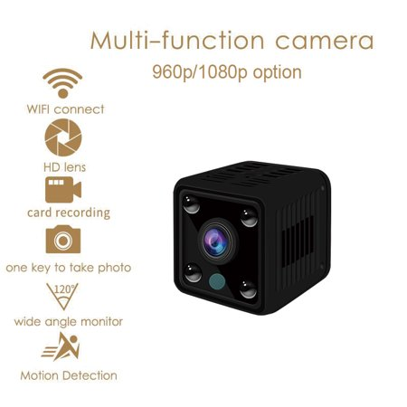 Small Mini Wifi Camera IP Wireless 1080P HD P2P Video CCTV Nanny Body Cam Home Security World Vision Monitor ()