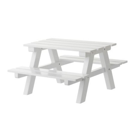 Peachy White Wooden Doll Picnic Table Fits 18 American Girl Dolls Home Interior And Landscaping Ymoonbapapsignezvosmurscom