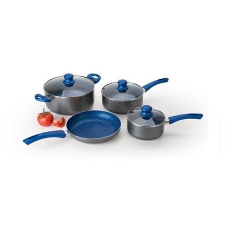 Alpine cuisine 7 piece aluminum cookware set in gray for Alpine cuisine ceramic cookware