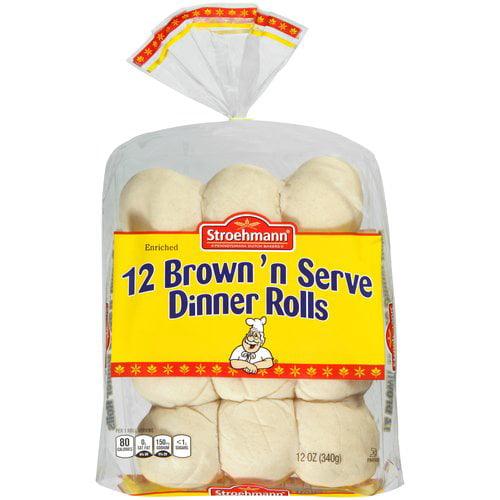 Stroehmann Brown 'n Serve Dinner Rolls, 12 oz