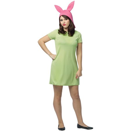 Bob's Burgers: Louise Green Dress Women's Adult Halloween Costume, One Size](Halloween Costume Green Dress)