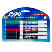 Expo Dry Erase Fine Tip Markers, Assorted Colors, 5 Count