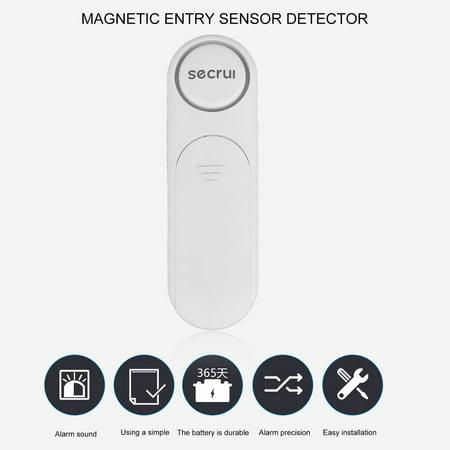 Wireless Window And Door Magnetic Entry Sensor Open Detector White