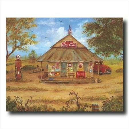 Pals Old Country Store Folk Kitchen Wall Picture Art Print - Folk Art Halloween