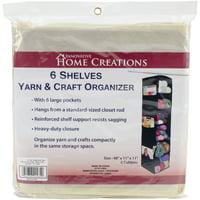 "Innovative Home Creations 6 Shelf Yarn & Craft Organizer Natural 48""X11""X11"""