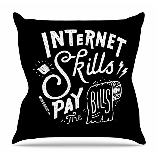 East Urban Home Pay the Bills by Tatak Waskitho Throw Pillow