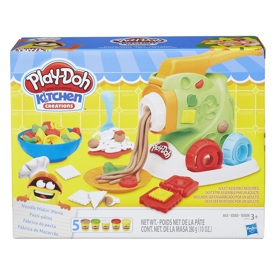 Play Doh Kitchen Creations Noodle Makin Mania Food Set With 5 Cans