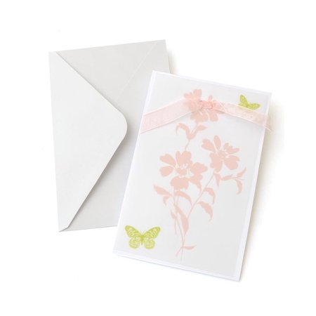 Butterfly with Bow & Vellum Printable Invitations 15ct.,Walmartpatible with most printers By Gartner Studios