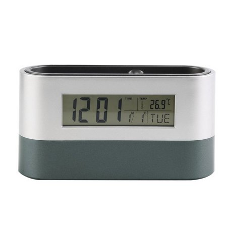 New Desk Digital Alarm Clock Pen Holder Calendar Thermometer Timer Gifts - image 8 de 8