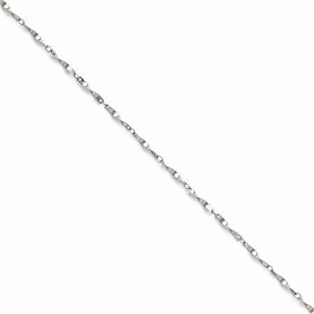 - Stainless Steel Polished Fancy Link Spiral Chain Length 22