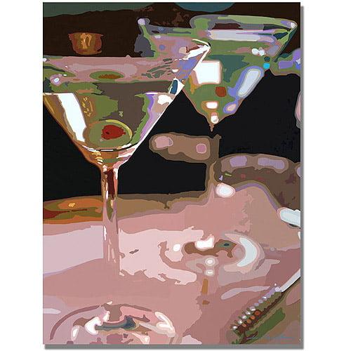 "Trademark Art ""Two Martini Lunch"" Canvas Wall Art by David Lloyd Glover"