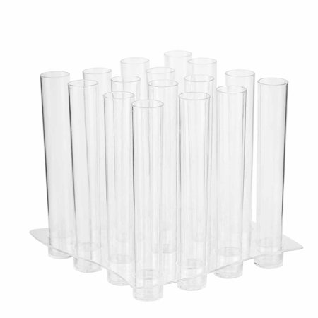 BalsaCircle 16 pcs 1 oz Clear Plastic Jello Shot Test Tubes with Tray - Disposable Wedding Catering Party Tableware - Jello Shots Recipe Halloween
