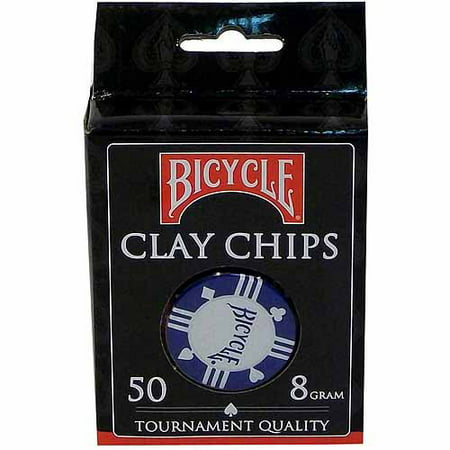Bicycle Clay Poker Chip Set, 50-Count (Best Clay Poker Chips)