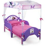Delta Children Disney Minnie Mouse Plastic Toddler Canopy Bed, Purple