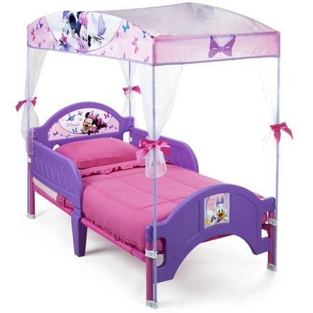 Disney Or Nickelodeon Canopy Or Tent Toddler Bed With Mattress - Minnie mouse bedroom decor for toddler