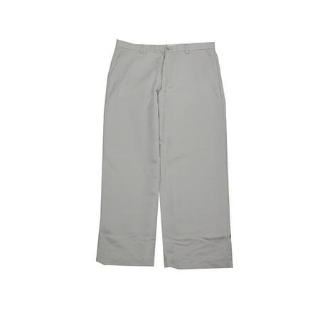 - Greg Norman Men's White Fog Micro-Fiber Flat-Front Pants 32