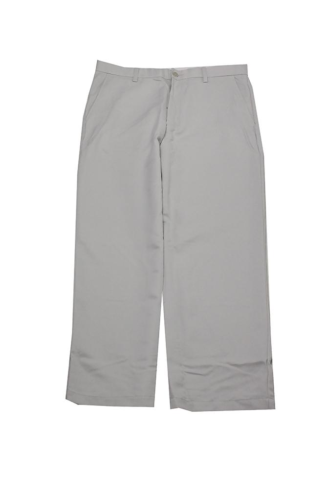 Greg Norman Men's White Fog Micro-Fiber Flat-Front Pants 32