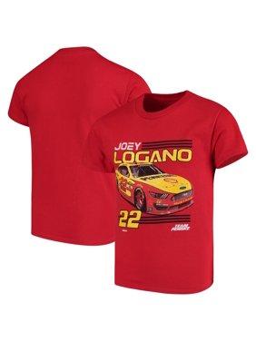 NASCAR Checkered Flag Youth Joey Logano T-Shirt - Red