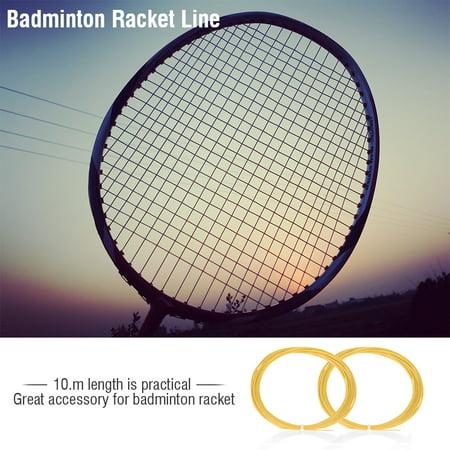 WALFRONT Badminton Racket String, Practical Badminton Racket String, 6Colors 10m Durable Nylon Fiber High Flexibility Badminton Racket Racquet String Line - image 2 of 3