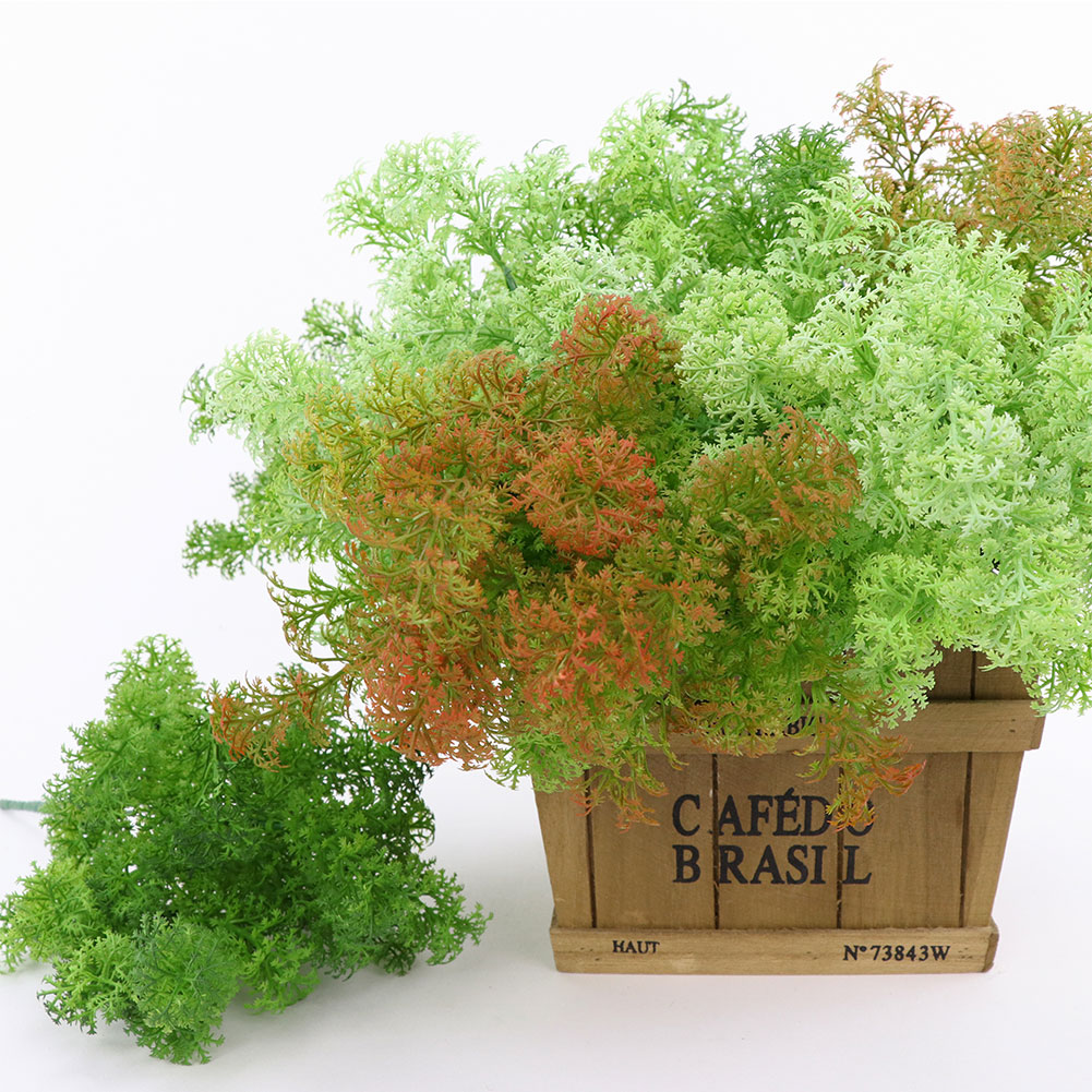 Micelec Artificial Plastic Moss Grass Plant Tree Home Office Party Furniture Decoration