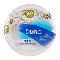 """Dixie (UX9WS) 8.5"""" Medium-Weight Paper Plates by GP PRO (Georgia-Pacific), Pathways, 500 Count (125 Plates Per Pack, 4 Packs Per Case)"""