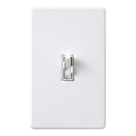 Lutron Ariadni AY2-LFSQH Preset Dual Fan/Light Switch, 300 W, 1-Pole, 3-Way Switch, 120 V, Ivory, 1.5 A,