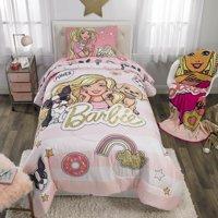 Mattel Barbie Kids Bedding Bed in a Bag Set, BFF Crew