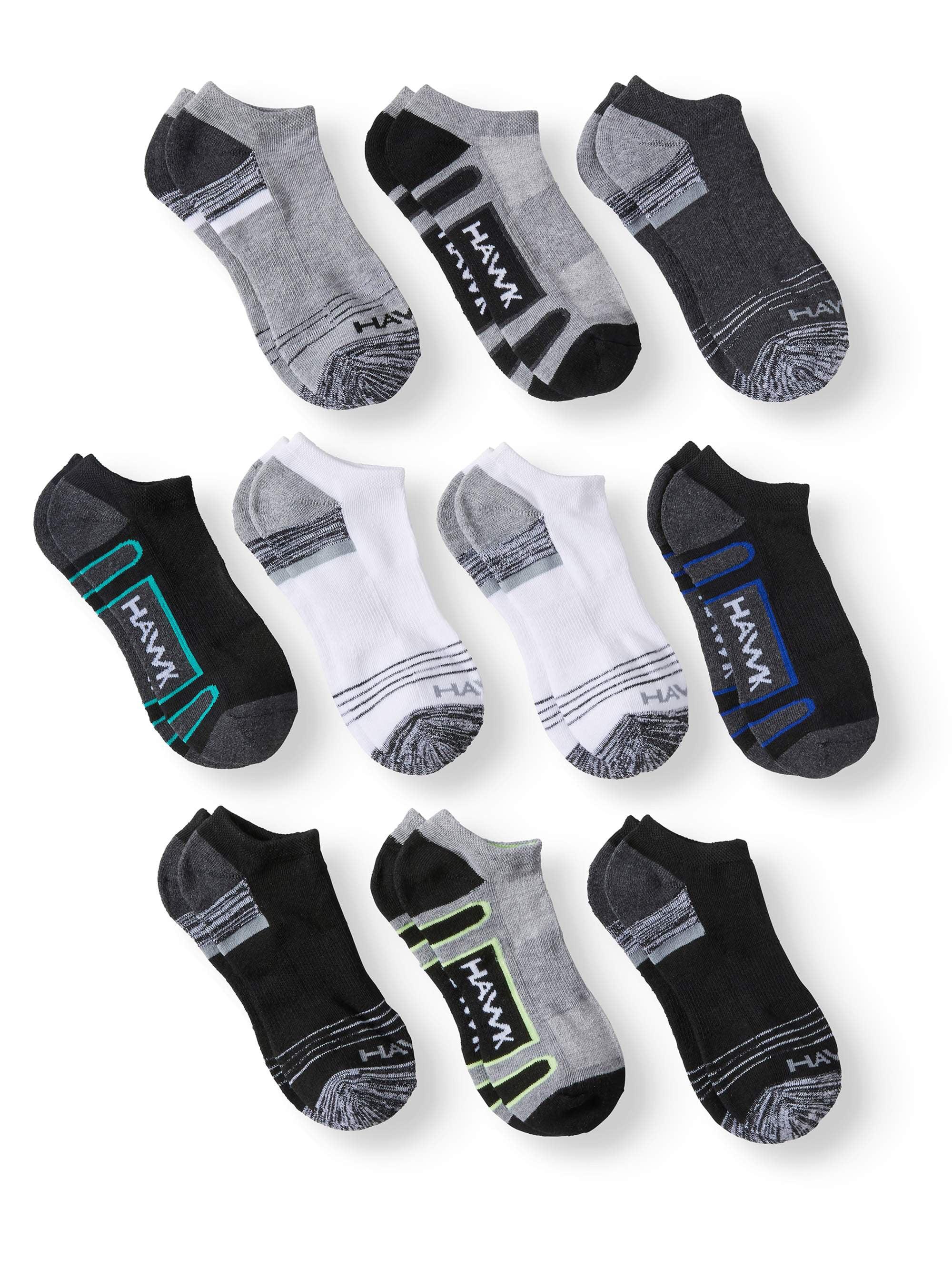 Tony Hawk Half Cushion No Show Socks, 10 Pairs (Big Boys)