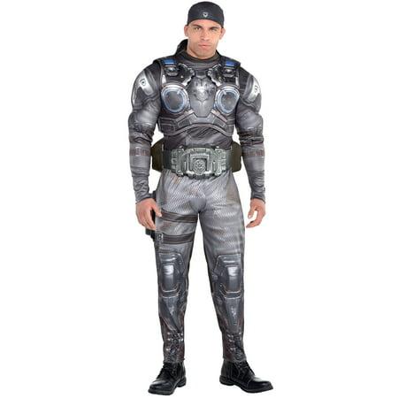 Cool Gear Can Halloween (Marcus Fenix Halloween Muscle Costume for Men, Gears of War,)