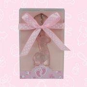 10 Baby Shower Pink Giraffe Acrylic Keychain Favor Gift